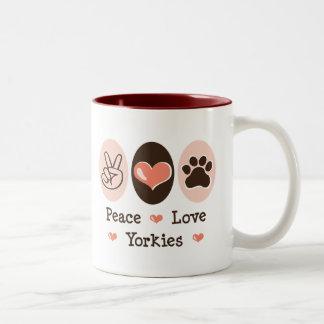 Peace Love Yorkies Mug