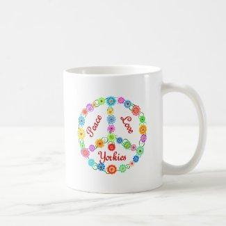 Peace Love Yorkies Mugs
