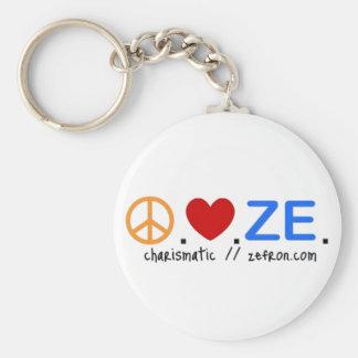 Peace.Love.ZE. Keychain