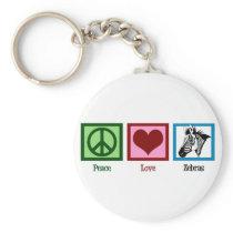 Peace Love Zebras Keychain