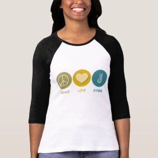 Peace Love Zither Raglan T-Shirt