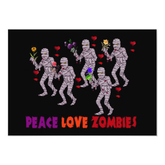 Peace Love Zombies Card