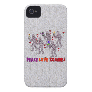Peace Love Zombies iPhone 4 Cover