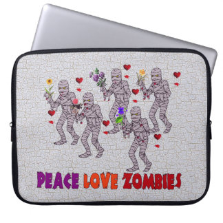 Peace Love Zombies Laptop Computer Sleeves
