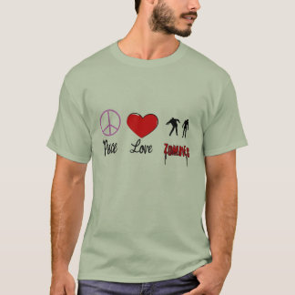 peace love zombies T-Shirt