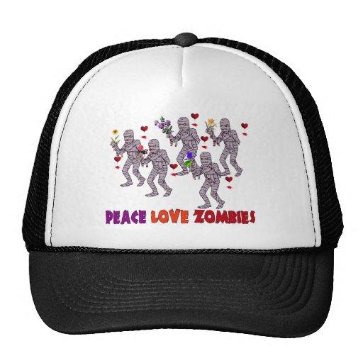 Peace Love Zombies Trucker Hat