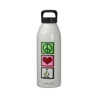Peace Love Zombies Drinking Bottles