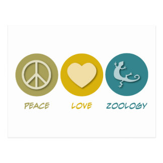 Peace Love Zoology Postcard