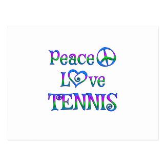 Peace Lover Tennis Postcard