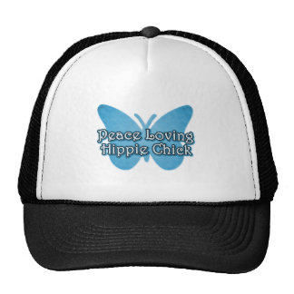 Peace Loving Hippie Chick Trucker Hat