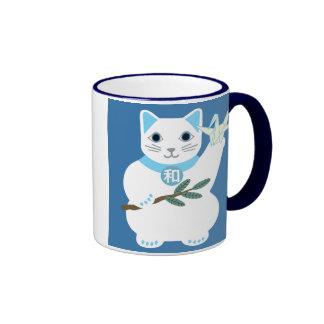 Peace Lucky Cat Mug