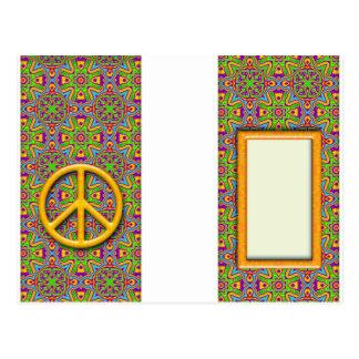 Peace Luggage Tag Postcard