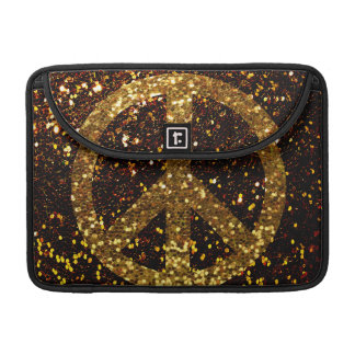 Peace MacBook Pro 13 Case with Glitter Sleeves For MacBook Pro