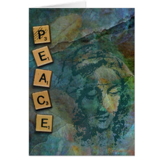 Peace Madonna Collage Card