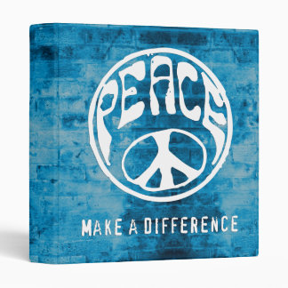 Peace: Make a Difference 3 Ring Binder