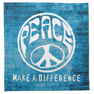 Peace: Make a Difference Napkin