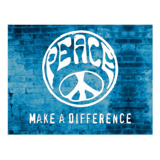 Peace: Make a Difference Postcard