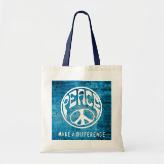 Peace: Make a Difference Tote Bag