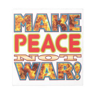 Peace Make X Memo Notepads