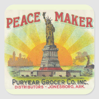 Peace Maker Square Sticker