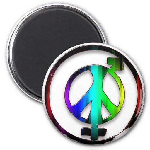 Peace Male and Female Symbols Fridge Magnets