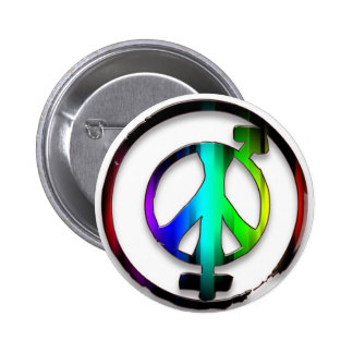 Peace Male and Female Symbols Pinback Button