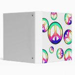 Peace Man ~ Multi-color Vinyl Binder