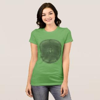 Peace Man T-shirt green patina coin circle