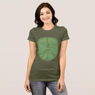 Peace Man T-shirt moss coin circle