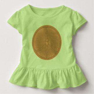 Peace Man T-shirt peach patina coin circle