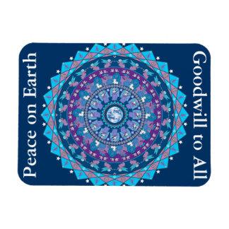 Peace Mandala Christmas Magnet