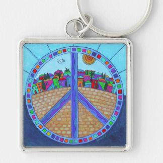 Peace Mandala Keychain