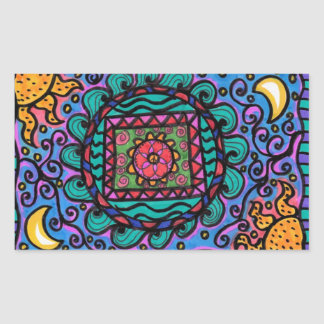 Peace Mandala Rectangular Sticker