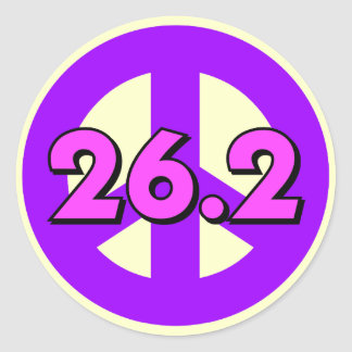 Peace marathon classic round sticker
