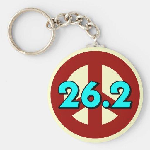 Peace marathon keychain