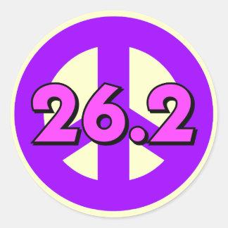 Peace marathon round stickers