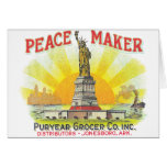 Peace Marker Grocers - Vintage Ad Card