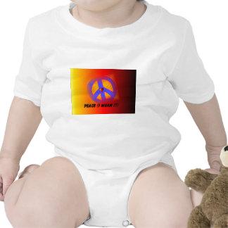 Peace mean it baby bodysuit