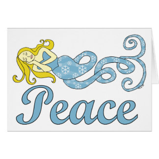 Peace Mermaid Holiday Dreams Cards