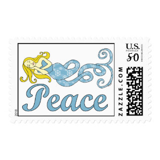 Peace Mermaid Holiday Dreams Postage