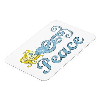 Peace Mermaid Holiday Dreams Rectangular Magnets