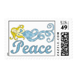 Peace Mermaid Holiday Dreams Stamps