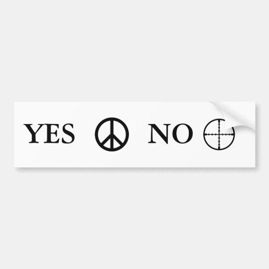 Peace Message Bumper Sticker