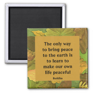 peace message from Buddha 2 Inch Square Magnet