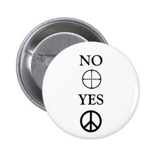 Peace Message Pinback Button