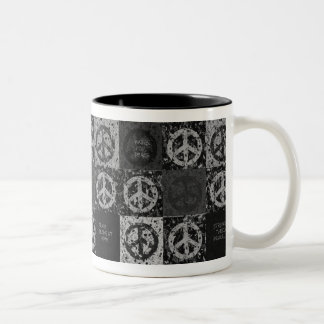 PEACE MESSAGES Two-Tone COFFEE MUG