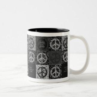 PEACE MESSAGES Two-Tone COFFEE MUG