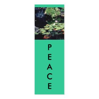 PEACE Mini Bookmarks Mini Business Card