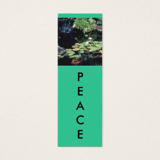 PEACE Mini Bookmarks Mini Business Card