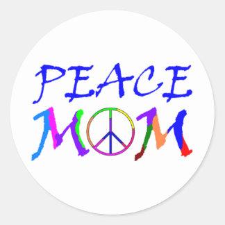 Peace Mom Classic Round Sticker
